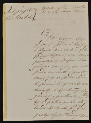 Primary view of [Letter from Rafael García to the Laredo Alcalde, January 16, 1845]