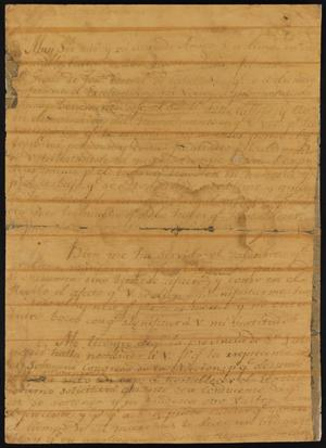 Primary view of [Letter from Bernardo Villomil]