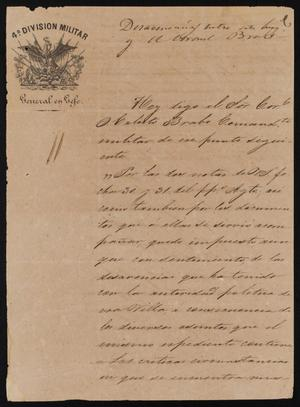 Primary view of [Letter from Mariano Arista to Alcalde Ramón, September 6, 1845]
