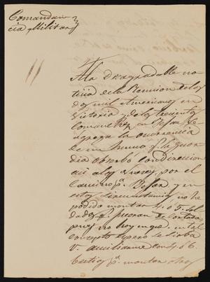 Primary view of [Letter from Comandante Bravo to the Laredo Alcalde, July 6, 1845]