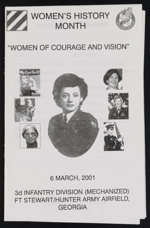 Primary view of object titled '[Brochure for the Women's History Month Celebration for the Third Infantry Division]'.