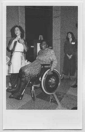[Barbara Jordan with Two Women]
