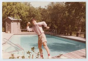 [David Bartholomew Posing by a Pool]