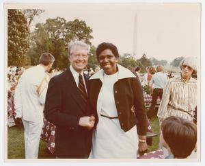 [Barbara Jordan and Jimmy Carter at a Picnic]