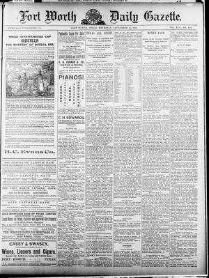 Primary view of Fort Worth Daily Gazette. (Fort Worth, Tex.), Vol. 14, No. 340, Ed. 1, Thursday, September 18, 1890