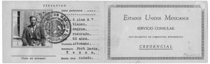 Primary view of object titled 'Febronio Acosta, Identification Card, 1930'.