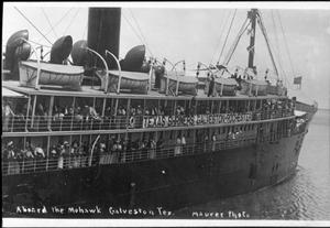 "Primary view of object titled '[""Aboard the Mohawk Galveston Tex.""]'."