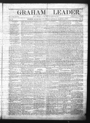 Primary view of object titled 'Graham Leader. (Graham, Tex.), Vol. 2, No. 28, Ed. 1 Saturday, March 9, 1878'.
