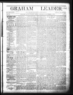 Primary view of Graham Leader. (Graham, Tex.), Vol. 4, No. 11, Ed. 1 Saturday, November 1, 1879