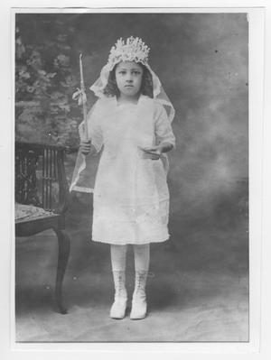 Primary view of object titled 'Celia Acosta on First Holy Communion'.