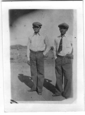 Primary view of object titled 'Pete and Felix Aguilar, 1928'.