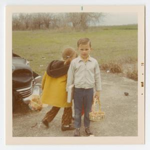 [Photograph of David Hess at M.B.C. Easter Egg Hunt]