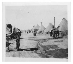Primary view of object titled '[Army Camp, Doña Ana, New Mexico]'.