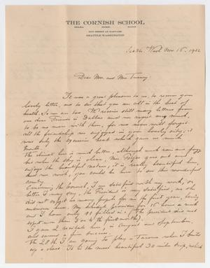 Primary view of object titled '[Letter from Edouard Potjes to Mr. and Mrs. Turney, November 16, 1922]'.