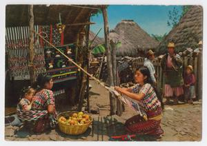 Primary view of object titled '[Postcard of Weaver from Santiago Atitlán]'.