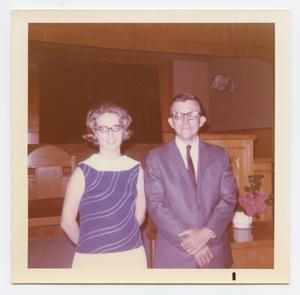 [Photograph of Celia and Don Teague at Murphy Baptist Church]