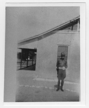 Primary view of object titled 'Private Ewing at Fort D.A. Russell'.