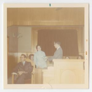 [Photograph of Mrs. Herb Grimes at Mother's Day Celebration]