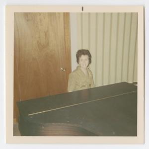 [Photograph of Madge Daniel Playing Piano at V.B.S.]