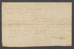 Primary view of [Correspondence from Isaac Crouch to Captain James Burtison]