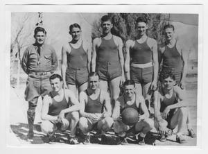 "Primary view of object titled 'Battery ""E"" Basketball Team'."