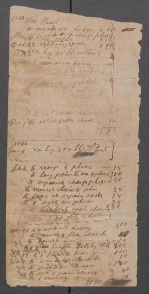 Primary view of object titled '[Ledger of goods and services]'.