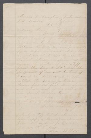 Primary view of object titled '[Court summons]'.