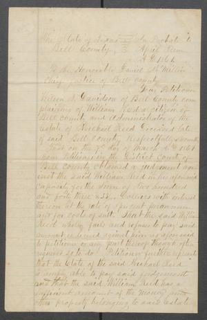 Primary view of object titled '[Petition of Wilson T. Davidson against William Reed]'.