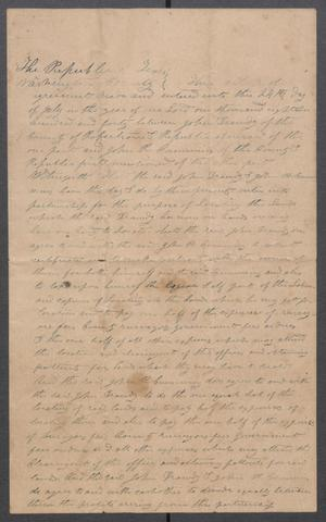 Primary view of object titled 'Article of Agreement Between John Droddy and John R. Cummings'.