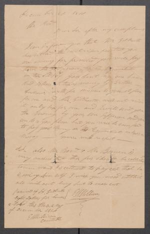 Primary view of object titled '[Correspondence from E.M. Millican to Michael Reed]'.