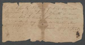 Primary view of object titled '[Promissory note for Joseph Dfrueth[?]]'.