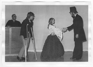 "Primary view of object titled 'Scene from the Play ""The Heavenly Case of The Bicentennial- America On Trial""'."