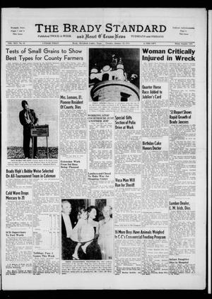Primary view of object titled 'The Brady Standard and Heart O' Texas News (Brady, Tex.), Vol. 45, No. 85, Ed. 1 Tuesday, January 12, 1954'.