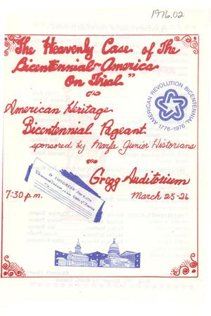 Primary view of object titled 'Program for Bicentennial Celebration in Marfa'.