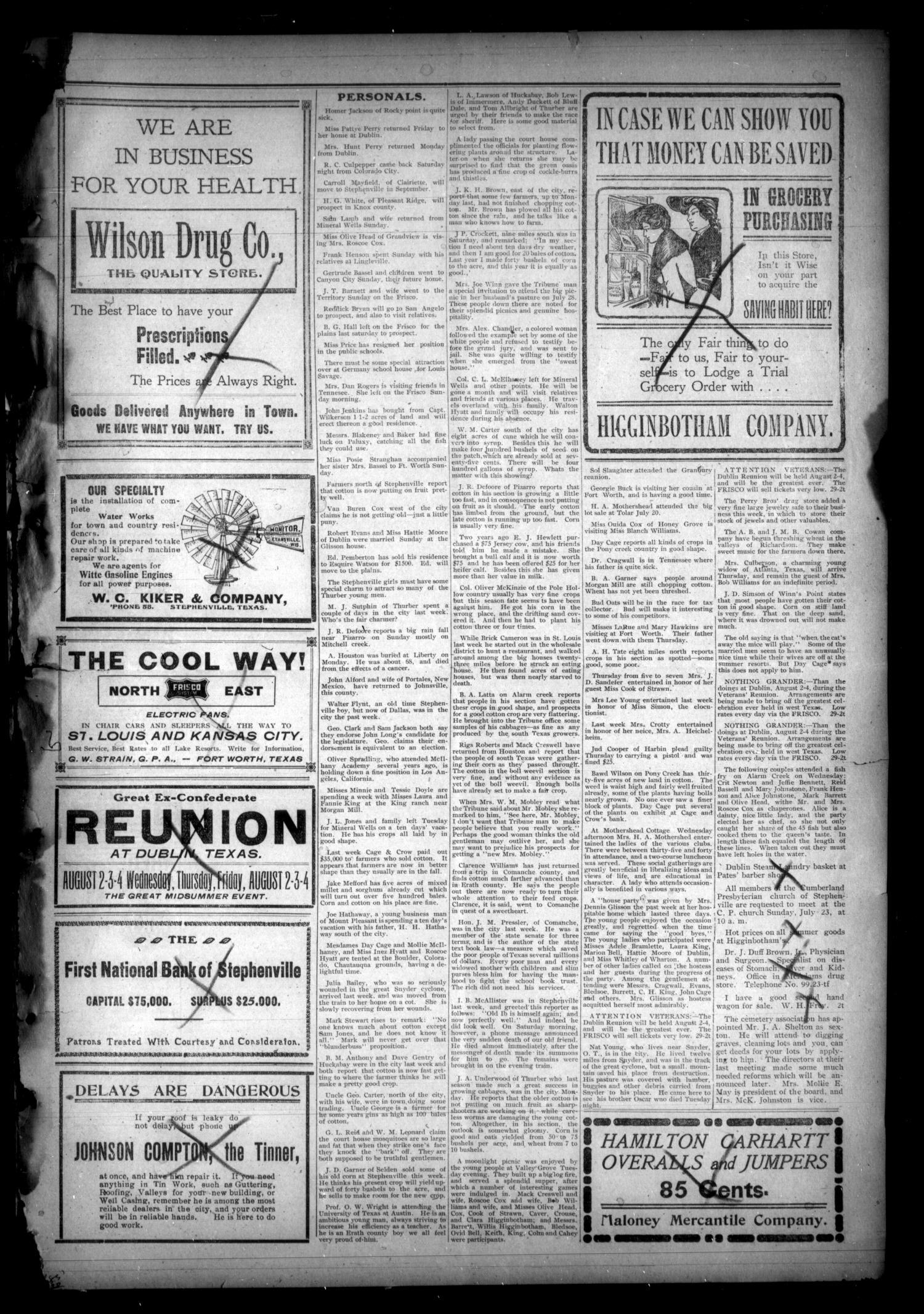 8b5b23e2db00 The Stephenville Tribune. (Stephenville