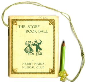 Primary view of object titled '[Dance Card for The Story Book Ball]'.