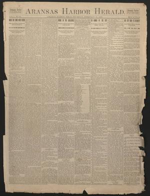 Primary view of Aransas Harbor Herald. (Aransas Harbor, Tex.), Vol. 1, No. 49, Ed. 1 Thursday, February 11, 1892