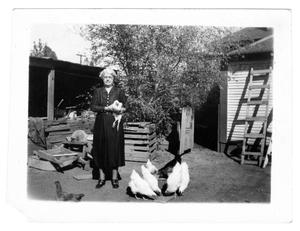Primary view of object titled '[Woman with Chickens]'.