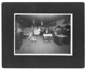 Primary view of object titled '[Interior of a Dry Goods Store]'.