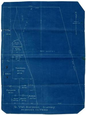 Primary view of object titled '[G. Van Norman Survey Blueprints]'.