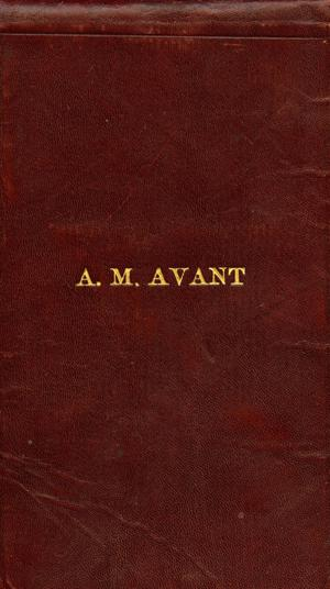 Primary view of object titled '[A. M. Avant's Sheriff's Day Book]'.