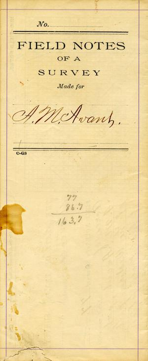 Primary view of object titled 'Field Notes of a Survey'.