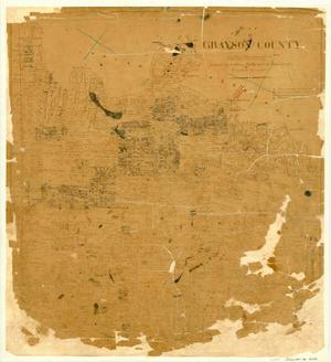 Primary view of object titled 'Map of Grayson County'.