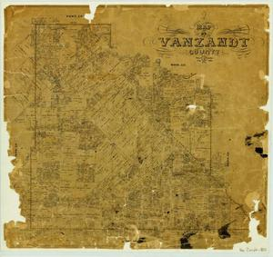 Primary view of object titled 'Map of Van Zandt County'.