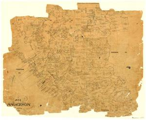 Primary view of object titled 'Map of Anderson County'.