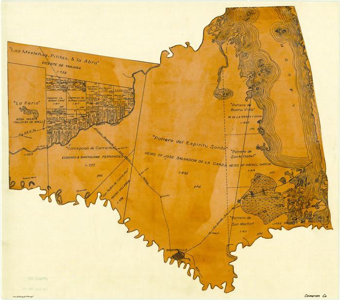 Cameron County Texas Map Cameron County   The Portal to Texas History