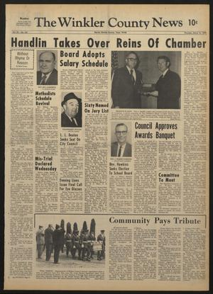 Primary view of The Winkler County News (Kermit, Tex.), Vol. 33, No. 101, Ed. 1 Thursday, March 12, 1970