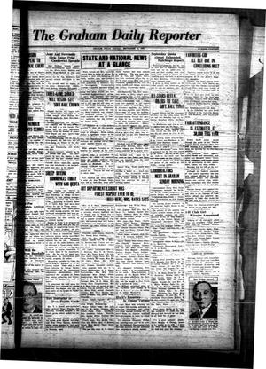 Primary view of object titled 'The Graham Daily Reporter (Graham, Tex.), Vol. 1, No. 19, Ed. 1 Monday, September 24, 1934'.