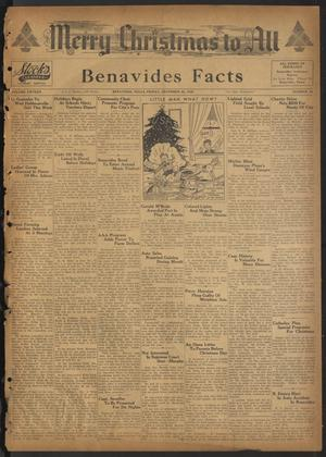 Primary view of object titled 'Benavides Facts (Benavides, Tex.), Vol. 15, No. 42, Ed. 1 Friday, December 22, 1939'.