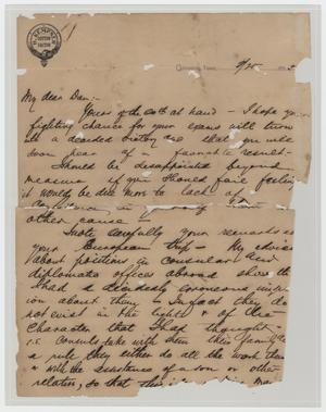 Primary view of object titled '[Letter from Ike H. Kempner to Dan Kempner, February 25, 1898]'.